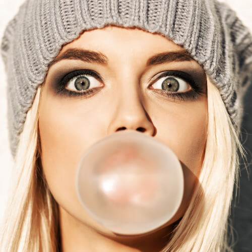 chewing gum for firm cheeks